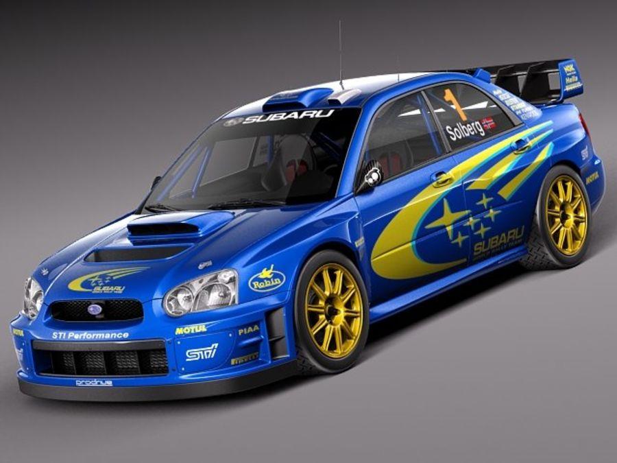 Subaru Impreza STi WRC 2004 royalty-free 3d model - Preview no. 1