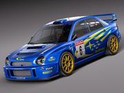 Subaru Impreza STi WRC 2001 3d model