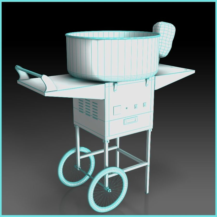 Cotton Candy Machine royalty-free 3d model - Preview no. 8