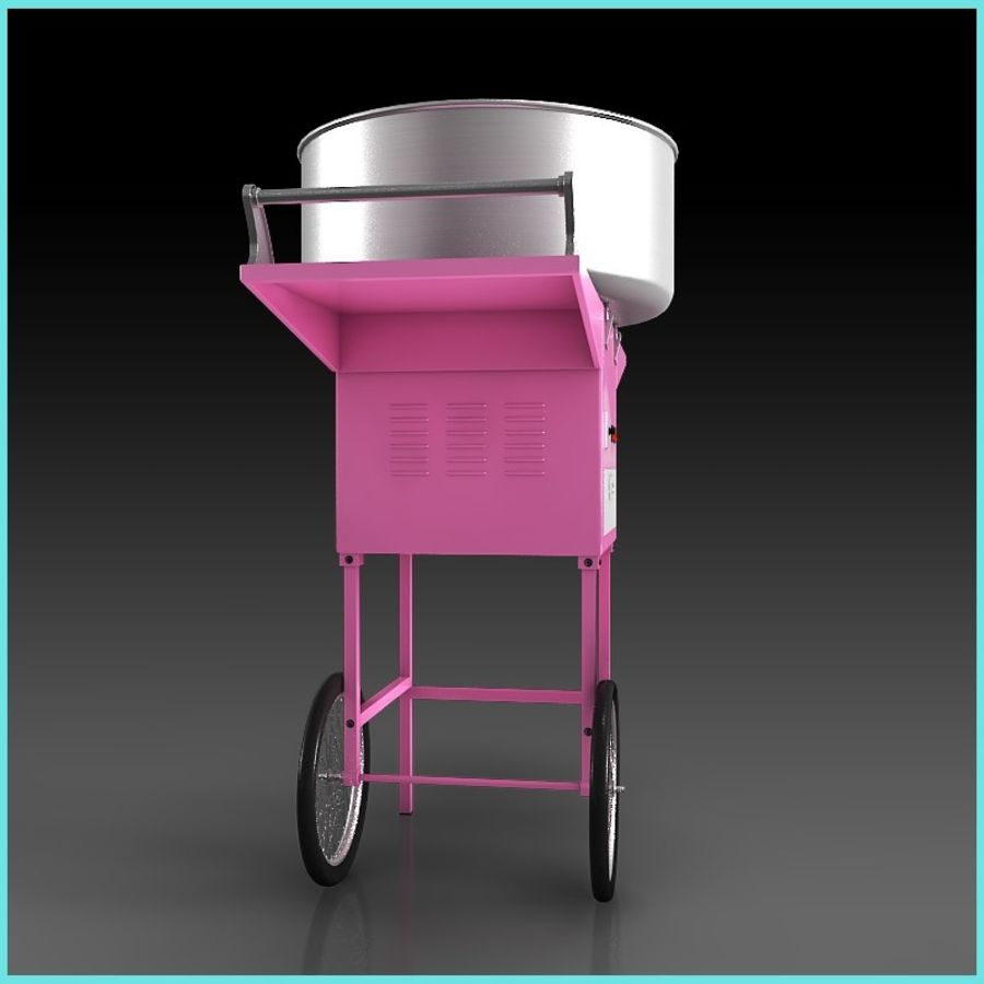 Cotton Candy Machine royalty-free 3d model - Preview no. 5
