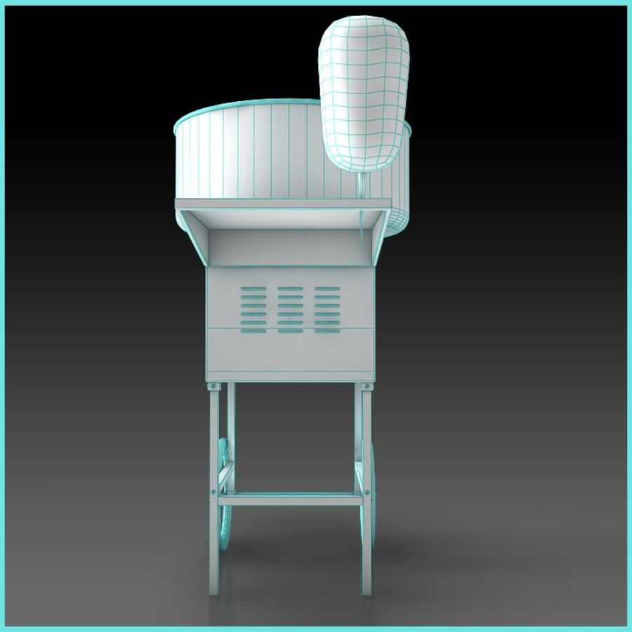 Cotton Candy Machine royalty-free 3d model - Preview no. 10