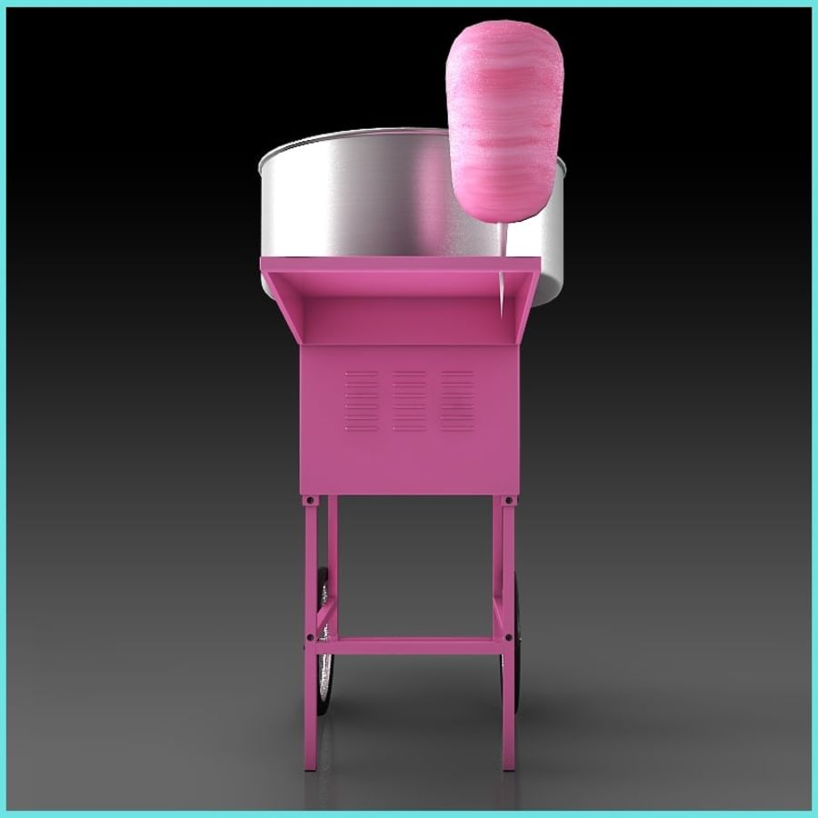 Cotton Candy Machine royalty-free 3d model - Preview no. 4