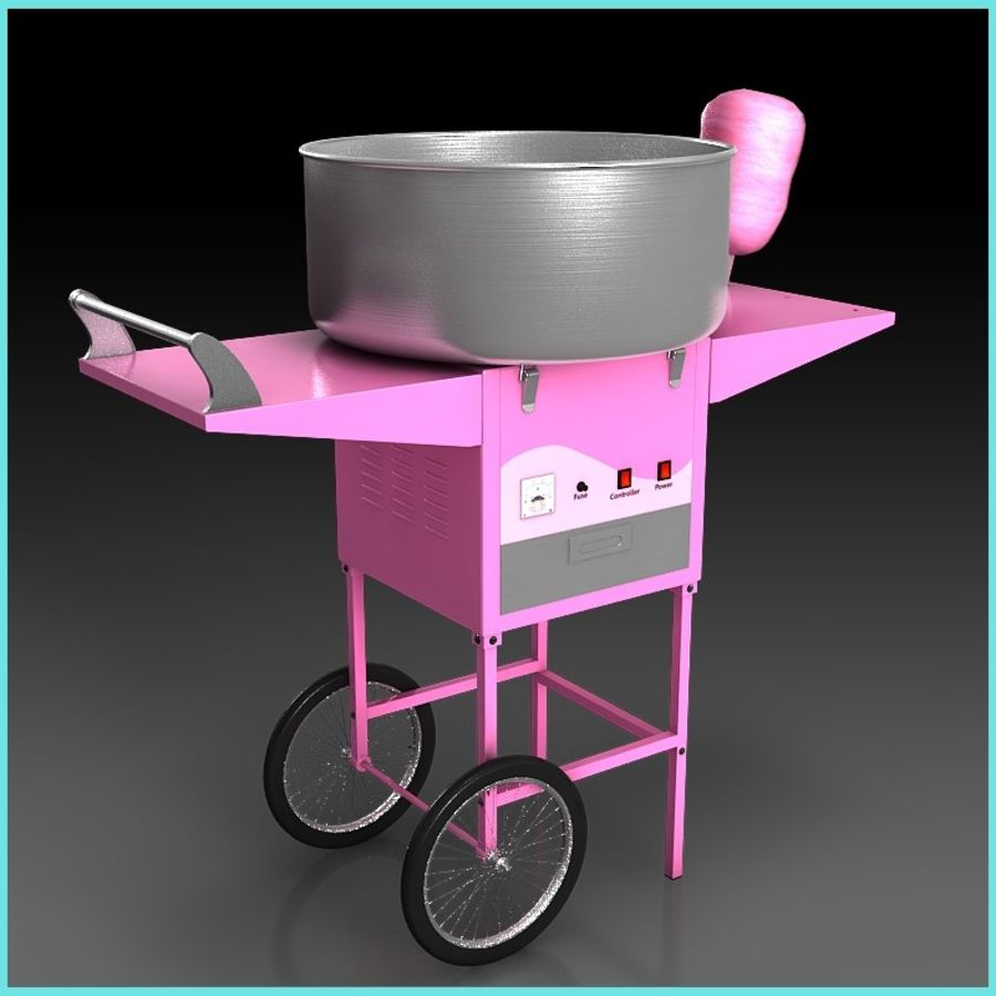 Cotton Candy Machine royalty-free 3d model - Preview no. 2