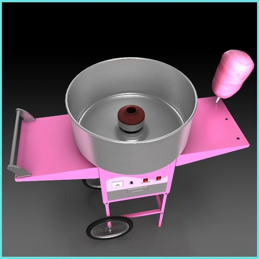 Cotton Candy Machine royalty-free 3d model - Preview no. 3
