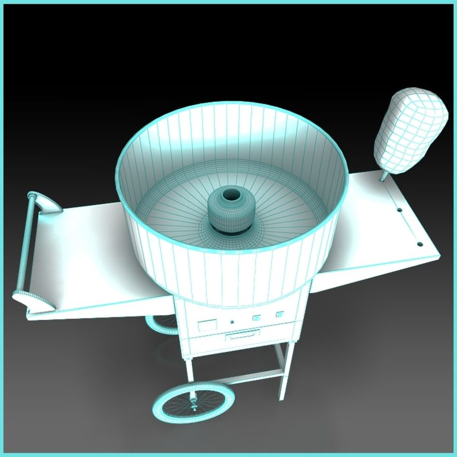 Cotton Candy Machine royalty-free 3d model - Preview no. 9