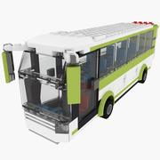 Lego Bus Set 8404 3d model