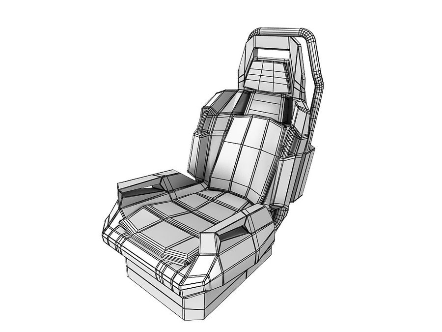Concept Seat royalty-free 3d model - Preview no. 5