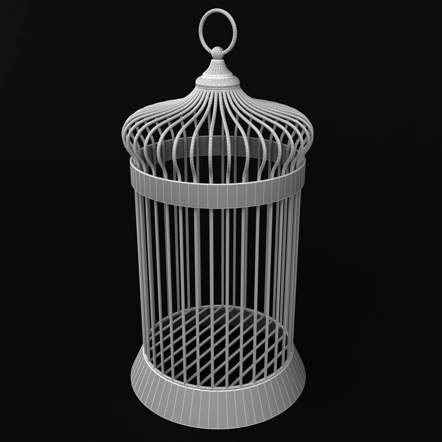 Vogelkooi royalty-free 3d model - Preview no. 5