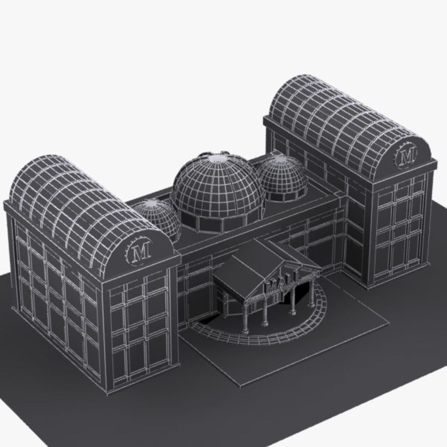 Cartoon Shopping Mall royalty-free 3d model - Preview no. 9