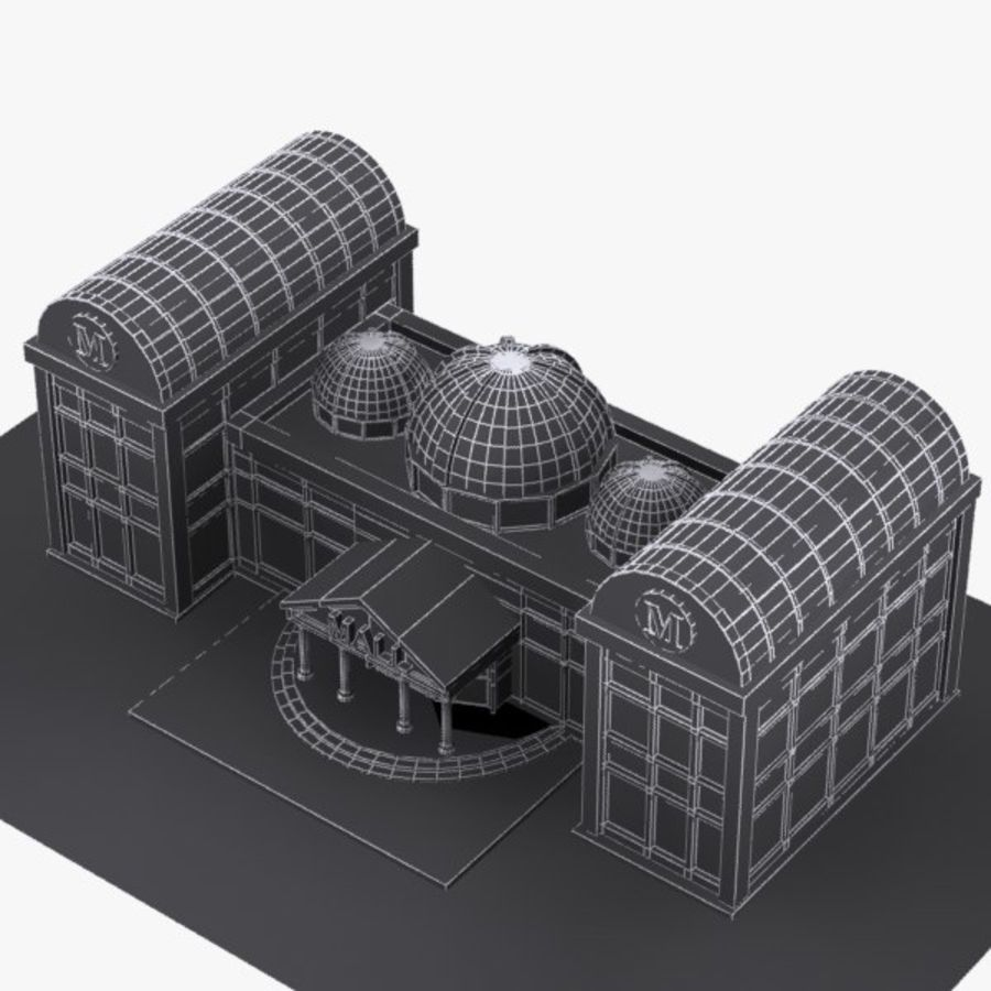 Cartoon Shopping Mall royalty-free 3d model - Preview no. 10