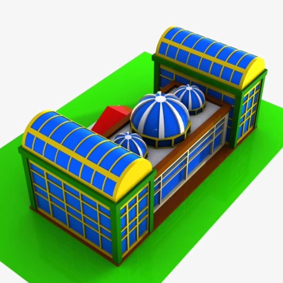 Cartoon Shopping Mall royalty-free 3d model - Preview no. 5
