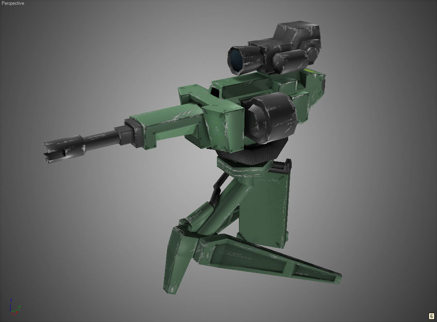 Sentry Turret royalty-free 3d model - Preview no. 9