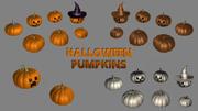 Raccolta zucca di Halloween 3d model