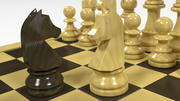 German Knight Staunton Chess Sets 3d model