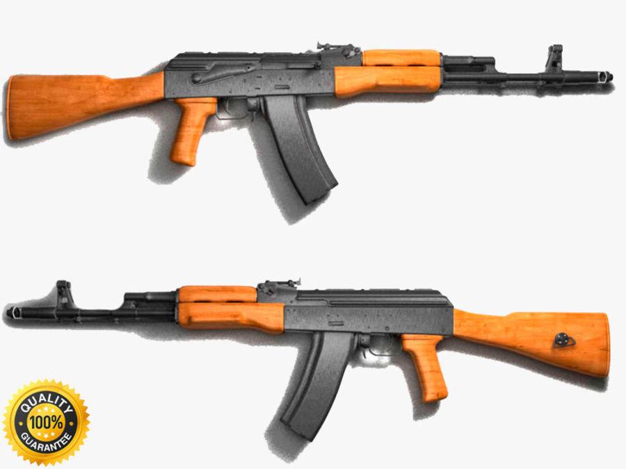 Ak-47 Assault Rifle royalty-free 3d model - Preview no. 1