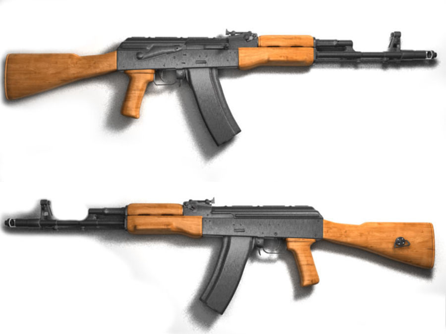 Ak-47 Assault Rifle royalty-free 3d model - Preview no. 2
