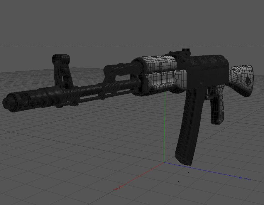 Ak-47 Assault Rifle royalty-free 3d model - Preview no. 6