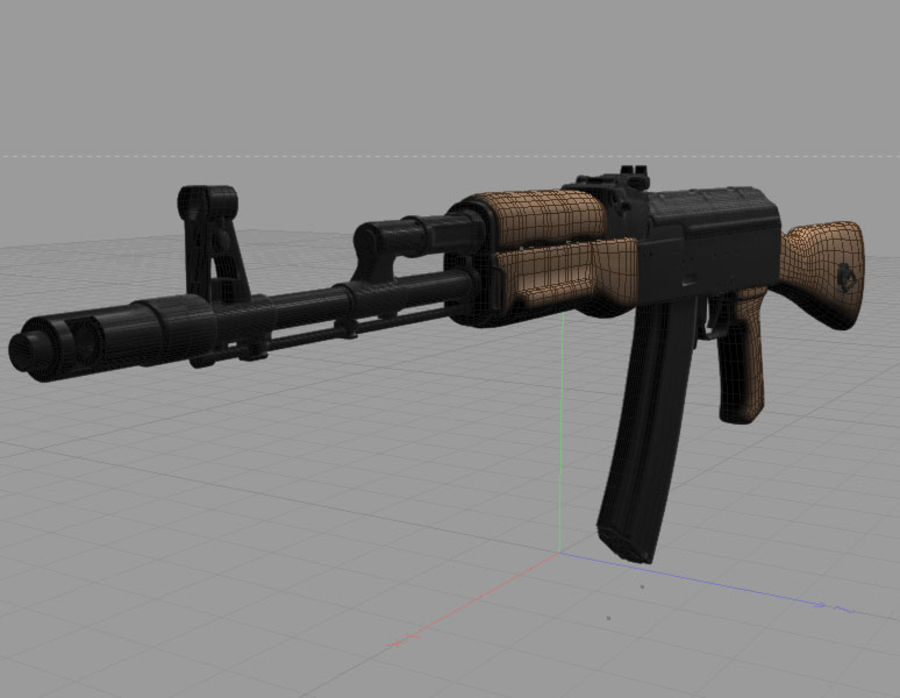 Rifle de Assalto Ak-47 royalty-free 3d model - Preview no. 5
