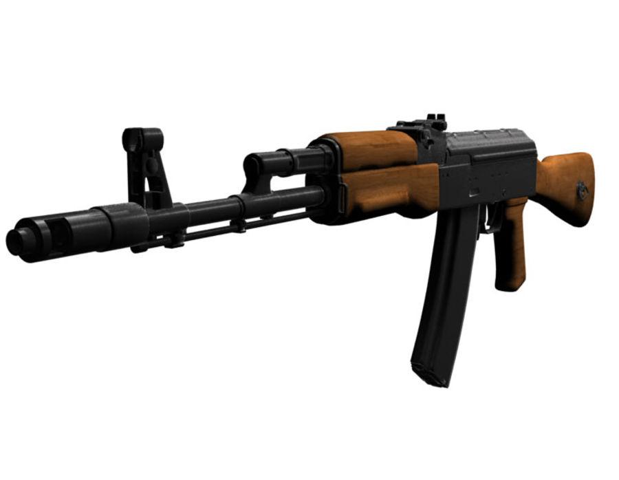 Ak-47 Assault Rifle royalty-free 3d model - Preview no. 4