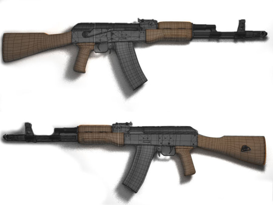 Ak-47 Assault Rifle royalty-free 3d model - Preview no. 3