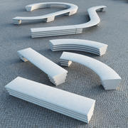 Escofet Hebi Modular Bench 3d model