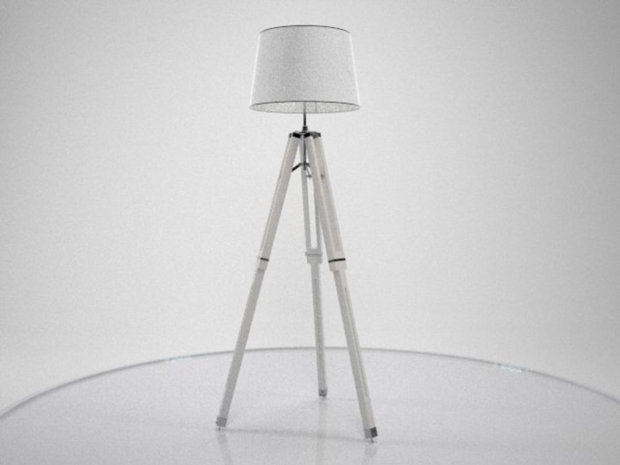 3 legged lamp royalty-free 3d model - Preview no. 1