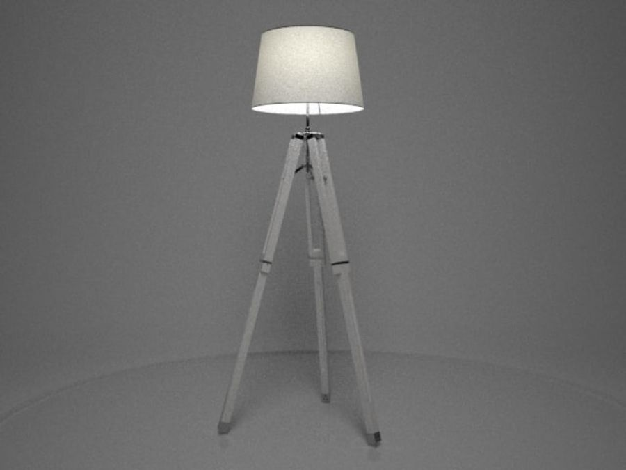 3 legged lamp royalty-free 3d model - Preview no. 2