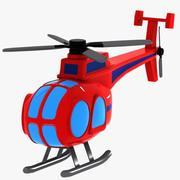 Helikopter kreskówka 3d model