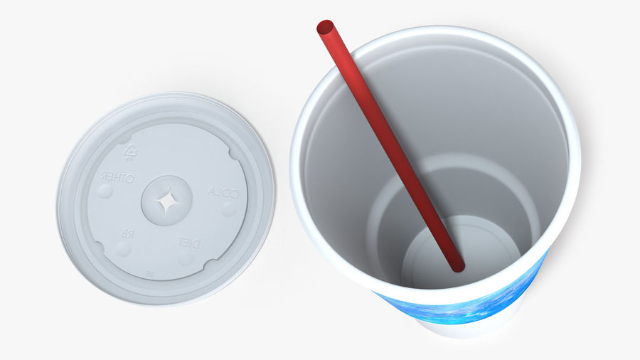 Beverage Cup royalty-free 3d model - Preview no. 7