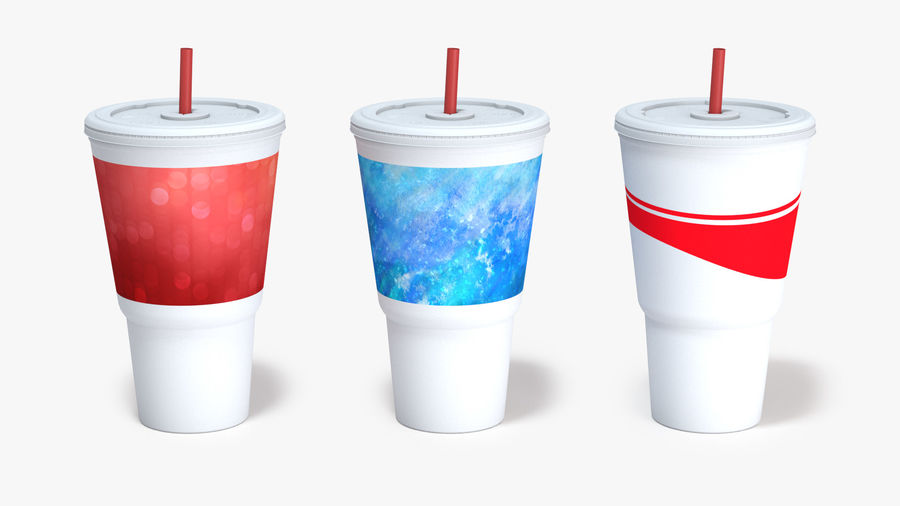 Beverage Cup royalty-free 3d model - Preview no. 4