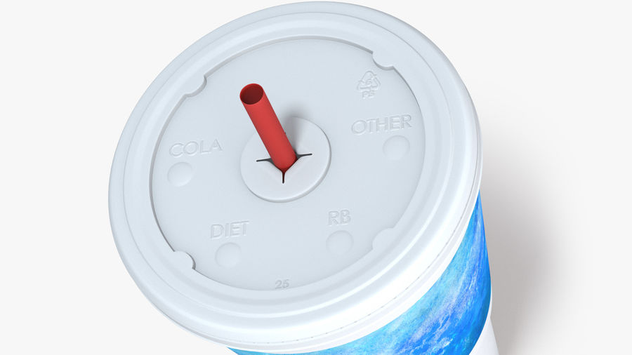 Beverage Cup royalty-free 3d model - Preview no. 6
