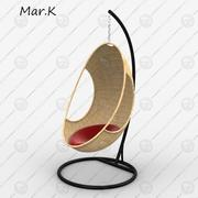 silla colgante modelo 3d