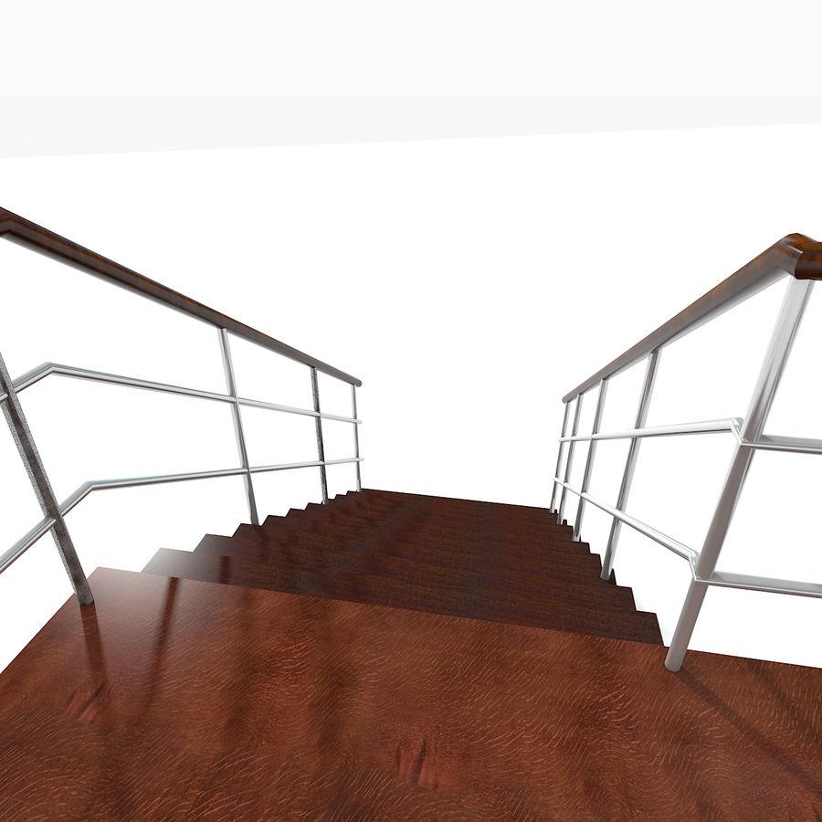 现代公寓金属木楼梯 royalty-free 3d model - Preview no. 16