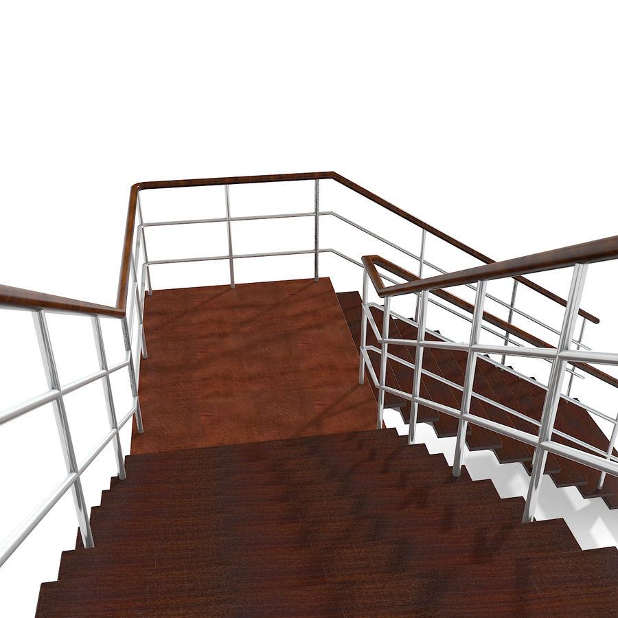 现代公寓金属木楼梯 royalty-free 3d model - Preview no. 5