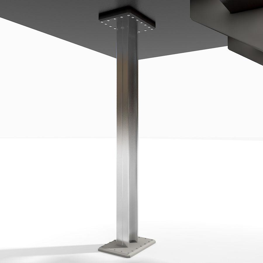 现代公寓金属木楼梯 royalty-free 3d model - Preview no. 12