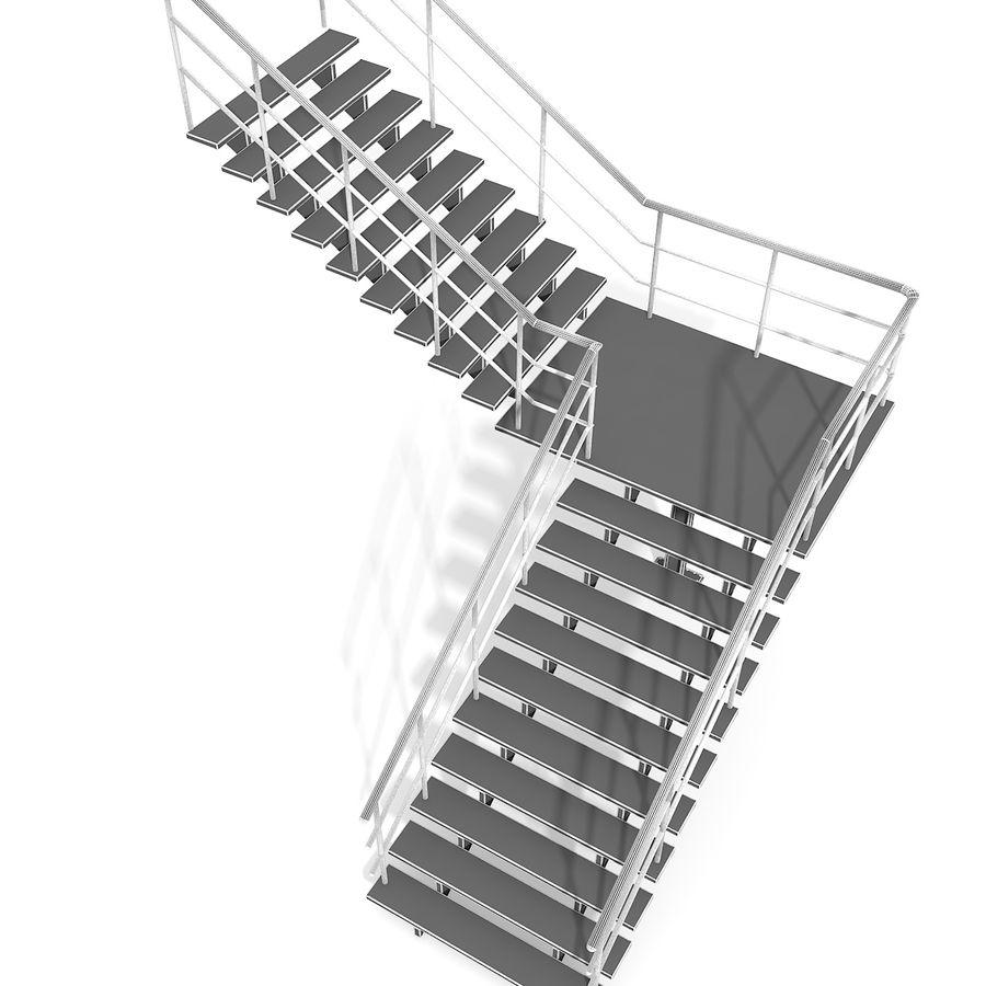 现代公寓金属木楼梯 royalty-free 3d model - Preview no. 19