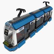Lego tram 8404 3d model