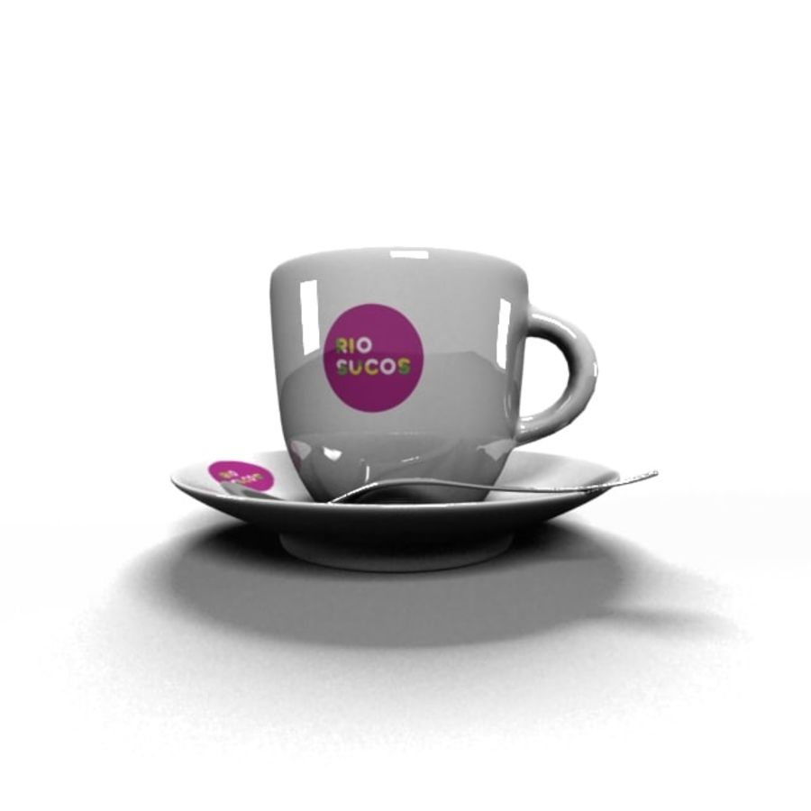 Kaffeetasse royalty-free 3d model - Preview no. 3