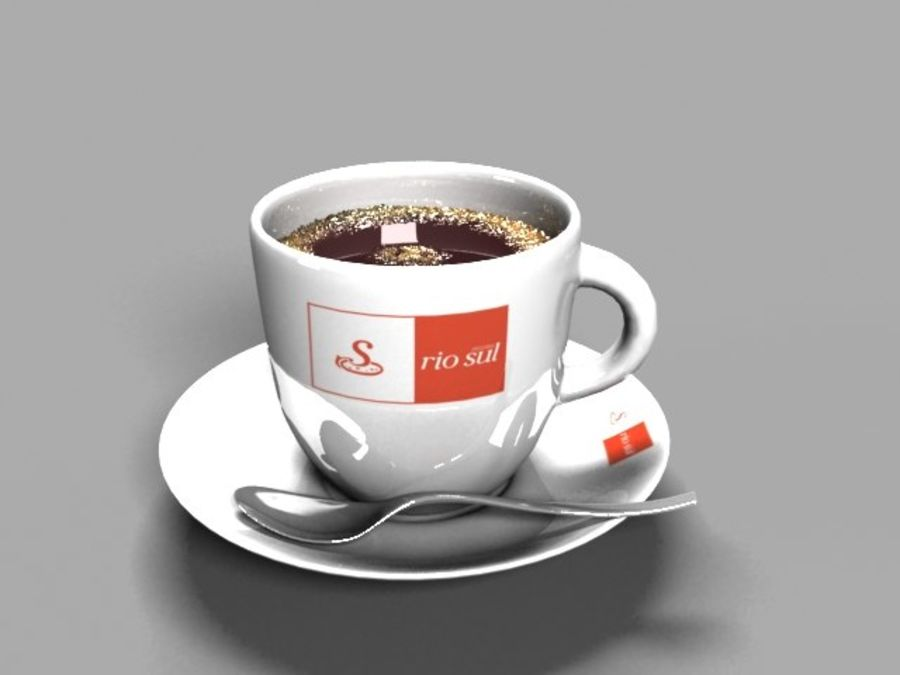 Kaffeetasse royalty-free 3d model - Preview no. 5