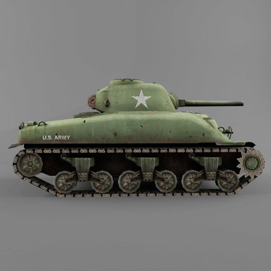 M4 Sherman royalty-free 3d model - Preview no. 6