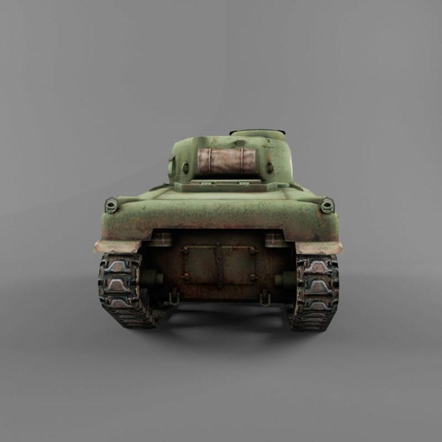 M4 Sherman royalty-free 3d model - Preview no. 4