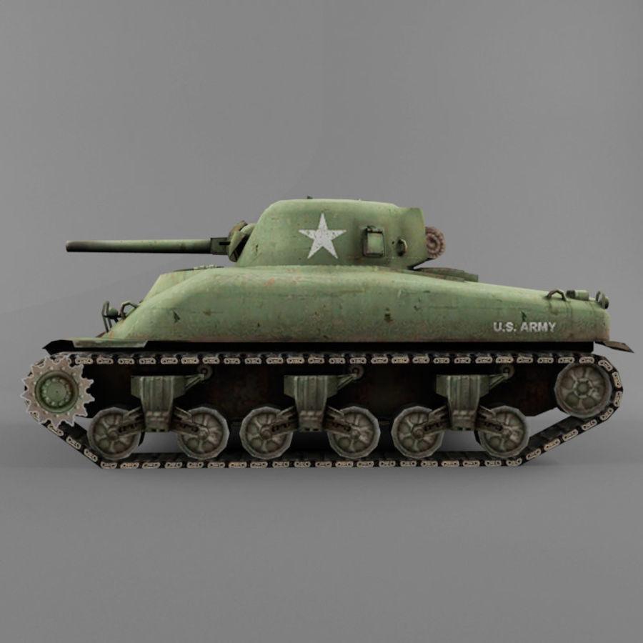 M4 Sherman royalty-free 3d model - Preview no. 2