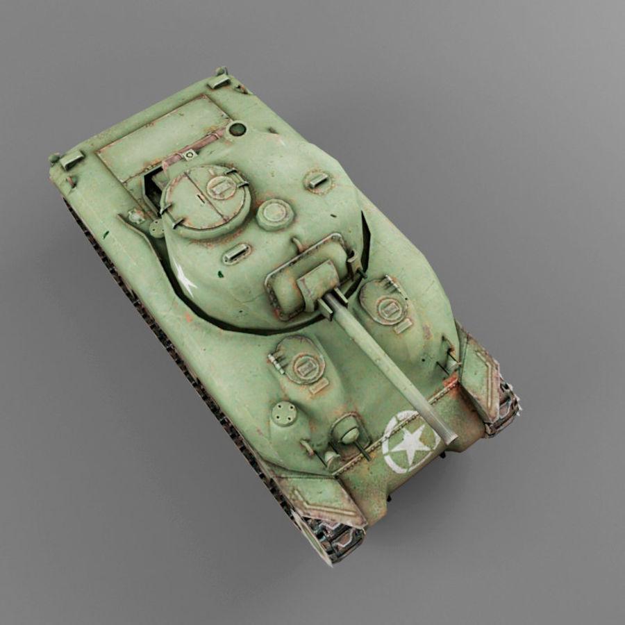 M4 Sherman royalty-free 3d model - Preview no. 9