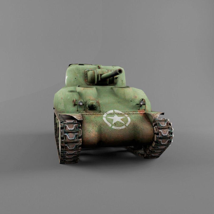 M4 Sherman royalty-free 3d model - Preview no. 8