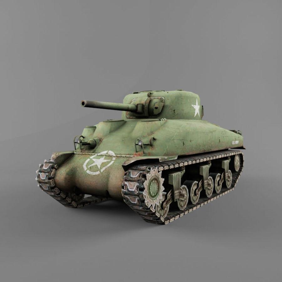 M4 Sherman royalty-free 3d model - Preview no. 1
