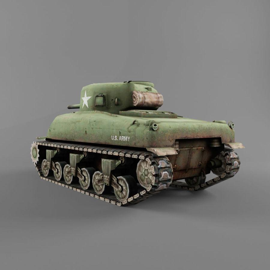 M4 Sherman royalty-free 3d model - Preview no. 3