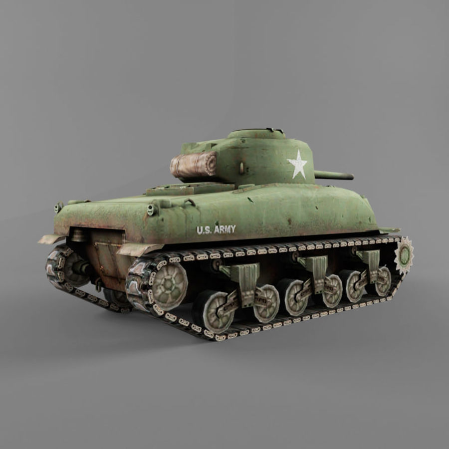 M4 Sherman royalty-free 3d model - Preview no. 5
