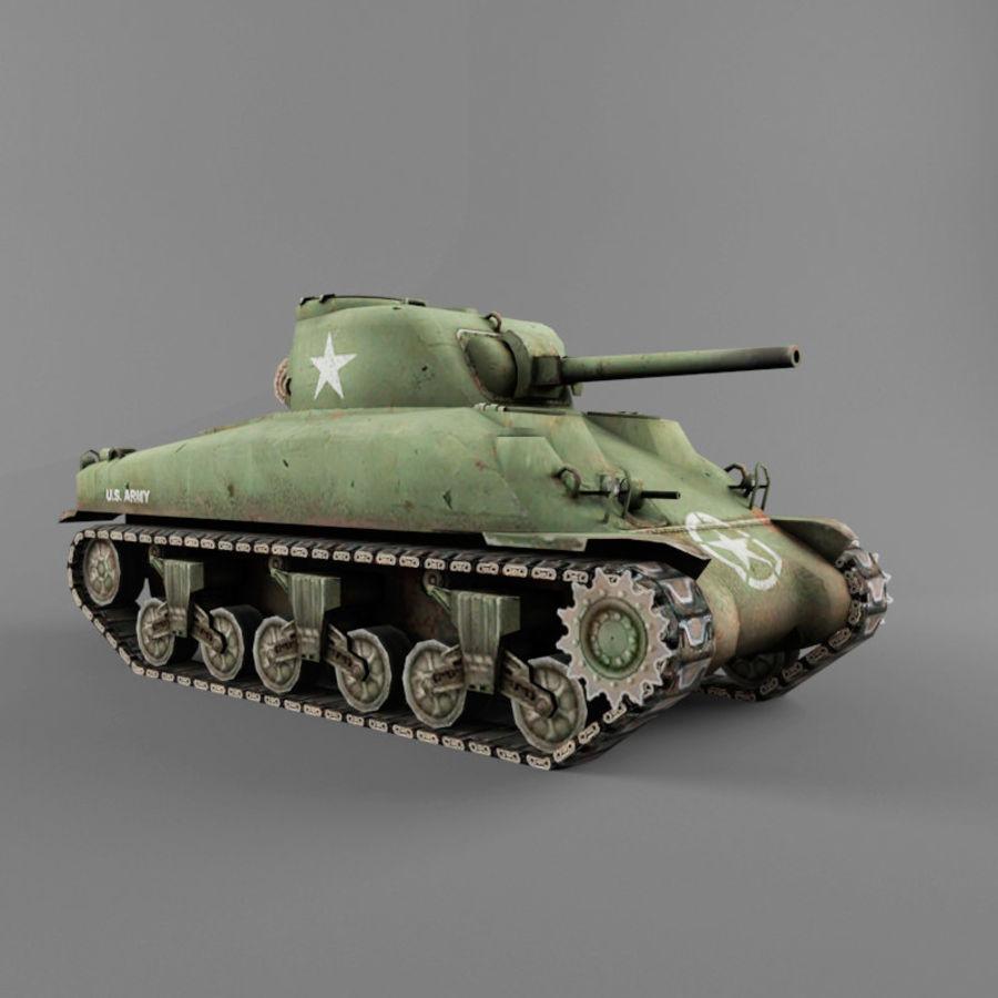 M4 Sherman royalty-free 3d model - Preview no. 7