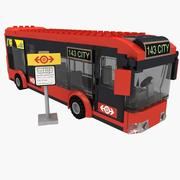 LEGO bus 60026 set 3d model