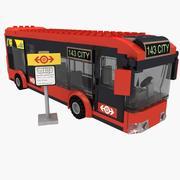 LEGO bus 60026 set modelo 3d